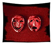 Comedy And Tragedy Masks 4 Tapestry