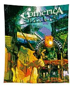 Comerica At Night Tapestry