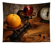 Comparing Apple And Orange Tapestry