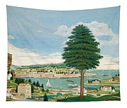 Composite Harbor Scene With Castle Tapestry