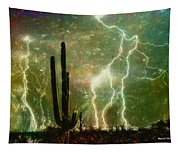 Computer Generated Image Of Lightening Tapestry