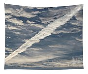Condensation Trails - Contrails - Airplane Tapestry