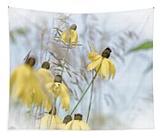 Coneflower And Bee 1  Tapestry