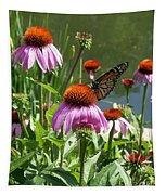 Coneflower With Butterfly Tapestry