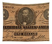 Confederate Dollar Bill Tapestry