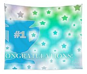 Congratulations Card Blue Stars Tapestry