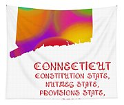 Connecticut State Map Collection 2 Tapestry