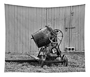 Construction - Vintage Cement Mixer Tapestry