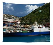 Container Ship St Maarten Tapestry