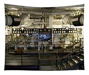 Control Board Engine Room Queen Mary Ocean Liner Long Beach Ca Tapestry