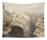 Convent Of St. Saba, April 4th 1839 Tapestry