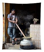 Cooking Breakfast Early Morning Lahore Pakistan Tapestry