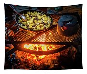 Cooking Meat And Potatoes Tapestry