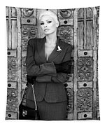 Cool Blonde Bw Palm Springs Tapestry