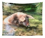 Cool Pig Tapestry