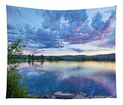 Coot Lake View Tapestry