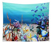 Coral Reef Blues  Tapestry