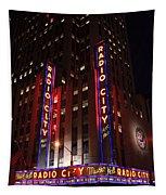 Corner Of Radio City Music Hall Tapestry