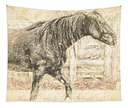 Corralled Stallion Drawn Tapestry