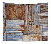 Corrugated Iron Background Tapestry