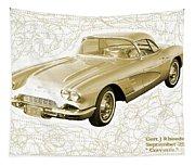 Corvette Sport Car Catus 1 No 2 Tapestry