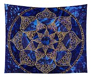 Cosmic Blue Lotus Tapestry