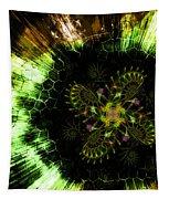 Cosmic Solar Flower Fern Flare Tapestry by Shawn Dall