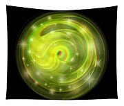 Cosmic Swirl - Use Red-cyan Filtered 3d Glasses Tapestry