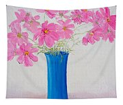 Cosmos Flowers Tapestry