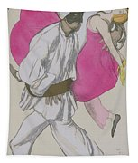 Costume Designs For Pamina And Monostatos In The Magic Flute Tapestry