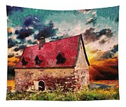 Cottage By The Sea - Abstract Realism Tapestry