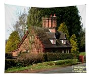 Cottage Next To Road Tapestry