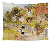 Cottages   A Row Of Cottages Tapestry