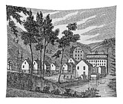 Cotton Factory Village, Glastenbury, From Connecticut Historical Collections, By John Warner Tapestry