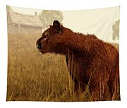 Cougar In A Field Tapestry