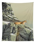 Cougar Perch Tapestry