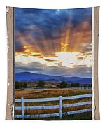 Country Beams Of Light Pealing Picture Window Frame Vie Tapestry