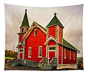 Country Church Paint Tapestry