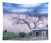 Country Horses Riders On The Storm Tapestry