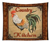 Country Kitchen Rooster Tapestry
