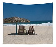 Couple In The Shade Tapestry