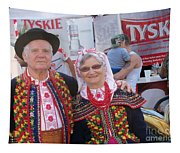 Couples In Polish National Costumes Tapestry