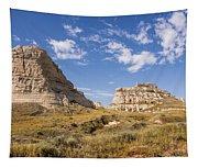 Courthouse And Jail Rocks - Bridgeport Nebraska Tapestry