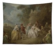 Courtly Scene In A Park, C.1730-35 Tapestry