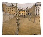 Courtyard Of The Old Barcelona Prison. Courtyard Of The Lambs Tapestry