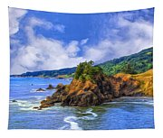 Cove On The Oregon Coast Tapestry