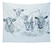 Cow Drawing Tapestry