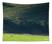 Cow In Field Tapestry
