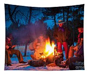Cowboy Campfire Tapestry