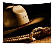 Cowboy Hat And Lasso Tapestry
